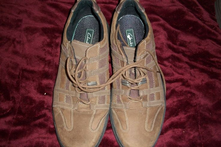 Men's CLARKS  Brown casual shoes pre owned used #Clarks #Ithinktheyareoxfordsnotsure