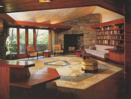 Living Room Reisley House 44 Usonia Road