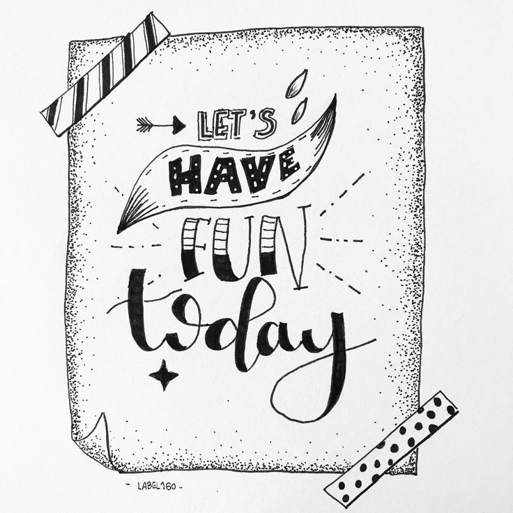 Let's have fun handlettering