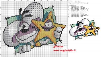 Schema punto croce Diddl con stella 100x83 10 colori.jpg (2.31 MB) Mai osservato