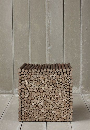 Contemporary stool / wood TWIG PINCH