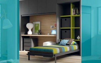 Cama abatible con estanter a interior de muebles jjp for Muebles infinity