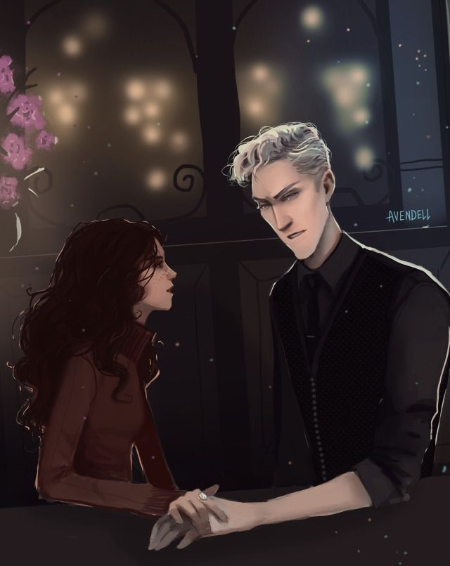 Avendell Commission For The Lovely Noncanonlove Midnight Dramione Dramione Fan Art Draco Malfoy Fanart