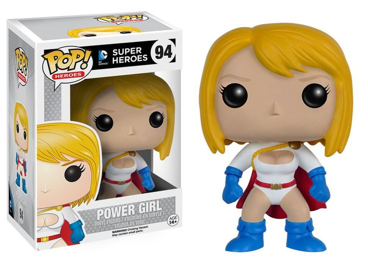 Power Girl Joins the Pop! Vinyl family! This Power Girl Pop! Vinyl Figure features the Kryptonian heroine as an adorable vinyl figure! Standing about 3 3/4-inches tall, this figure is packaged in a wi