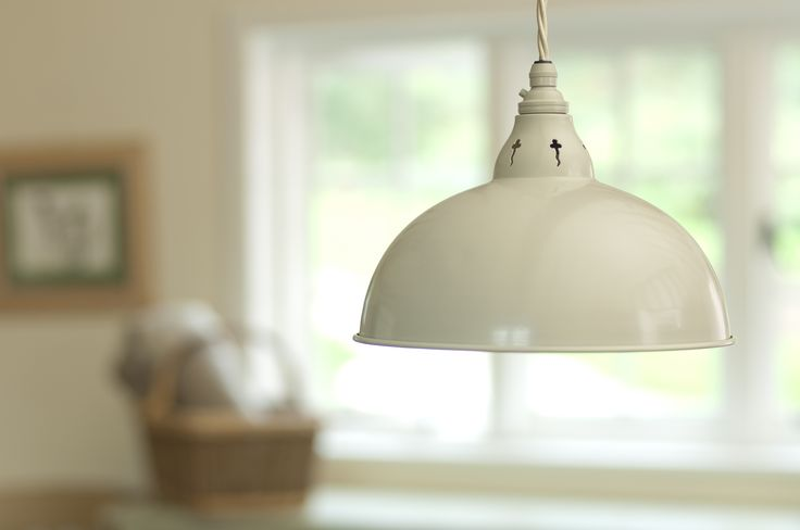 The #Butler #Pendant #Light in #Clay looks very stylish over  a kitchen table. It is a #country style with a #contemporary twist.