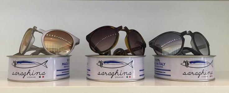 saraghina occhiali da sole pieghevoli in scatoletta di sardine
