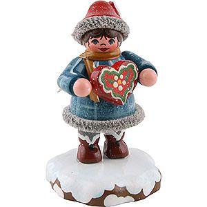 Winterkinder Tinchens Lebkuchenherz (5cm) von Hubrig Volkskunst