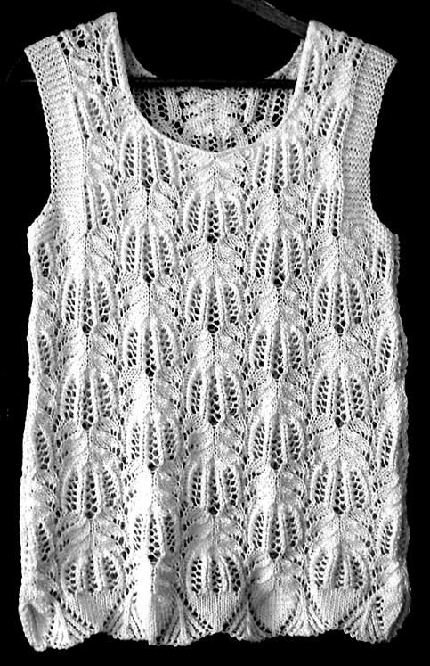 Frost Flowers top..free pattern ~ good instructions here on this blog site.