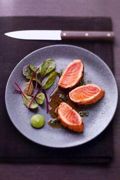 Tataki de saumon simple comme «Konnichiwa» par Damien Demazure