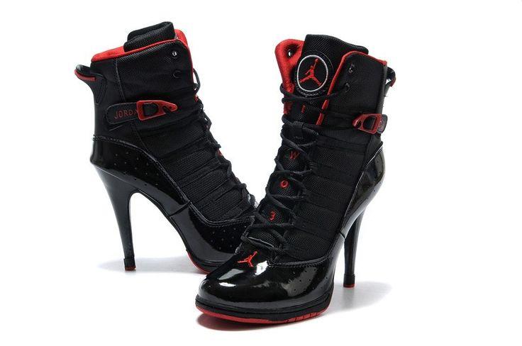 Nike Air Jordan Dunk alti talloni stivali nero rosso Affordable