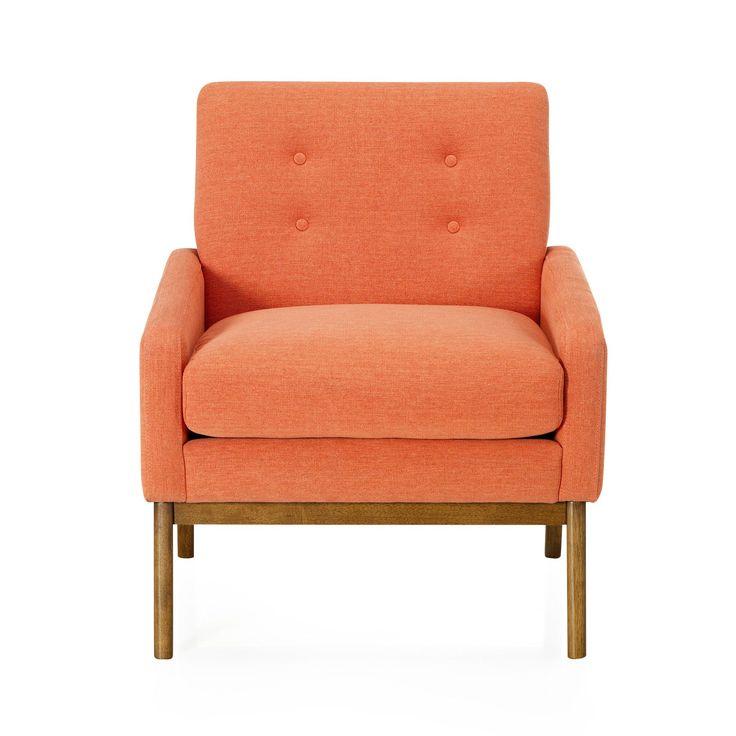 fauteuil vintage en tissus corail sophia fauteuils fauteuils et poufs salon et salle. Black Bedroom Furniture Sets. Home Design Ideas