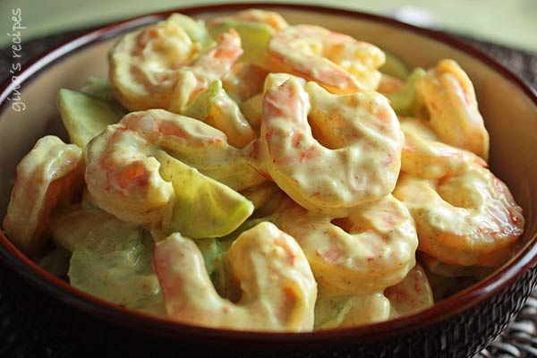 Creamy Shrimp and Celery Salad - this light and refreshing salad is perfect for a hot summer day!