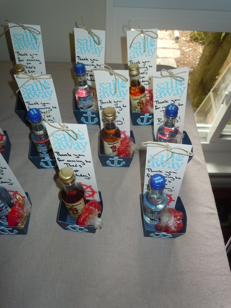 Nautical 1st Birthday Adult Party Favors