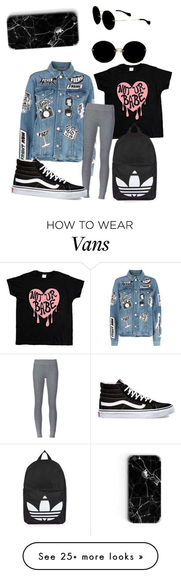 """First Day of School"" by andreamdag on Polyvore featuring Frame, ATM by Anthony Thomas Melillo, Vans, Topshop and Miu Miu"