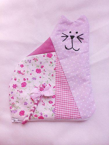 nécessaire - gatinho rosa