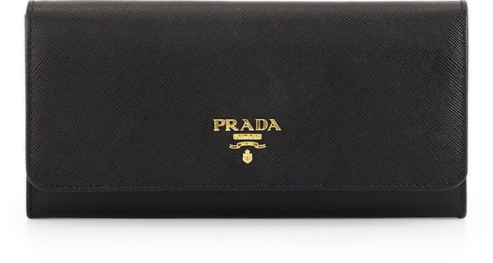 Wallets - Continental Wallet Calf Leather Black - black - Wallets for ladies Prada lORG1J