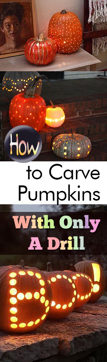 How to Carve Pumpkins With Only A Drill - My List of Lists