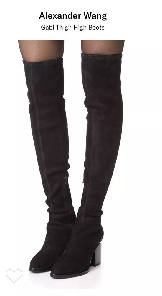 90843df4bd5 Alexander Wang Gabi Over the Knee Boots Thigh High Black 8.5 (38.5) NEW IN  BOX  fashion  clothing  shoes  accessories  womensshoes  boots (ebay link)