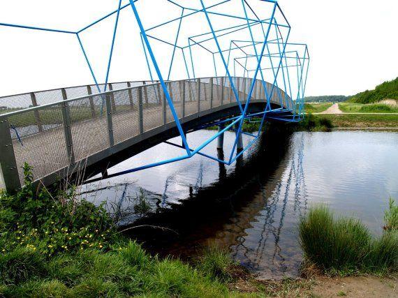 Balijbos Bridge in Zoetermeer, Netherlands