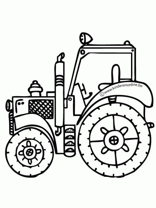 Kleurplaat Tractor Kleurplaten