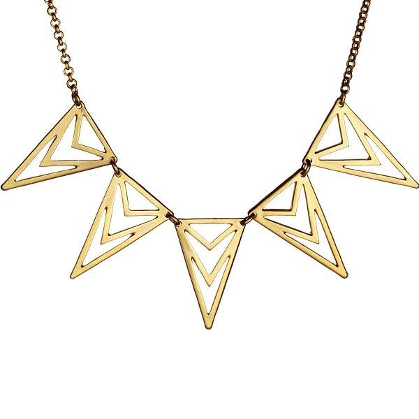 Üçgen Formlu Kolye #kolye #üçgen #takı #aksesuar #kadın #moda #stil #trend #necklace #accessory #woman #style #trendy #streetstyle #elegant #stilish