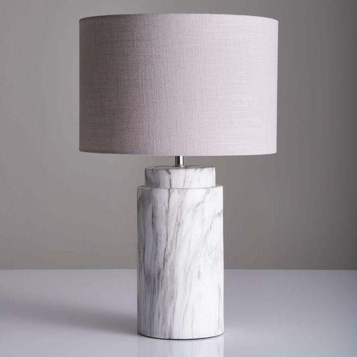 Wilko Table Lamp Marble Image 1 White Lamp Base Ideas Of White Lamp Base Whitelampbase Table Lamps Living Room Marble Table Lamp Table Lamps Uk