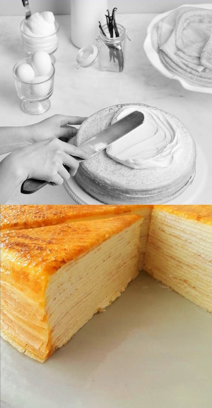 Before and After: Mille Crêpe Cake by Lady M