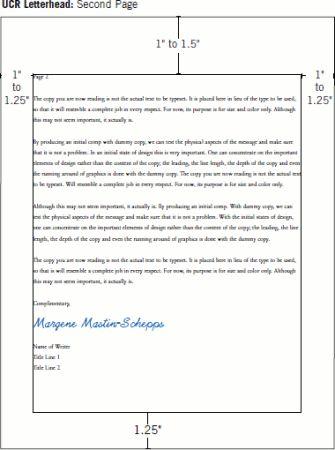 business letter second page the format jpeg everett Home Design - ucr resume builder