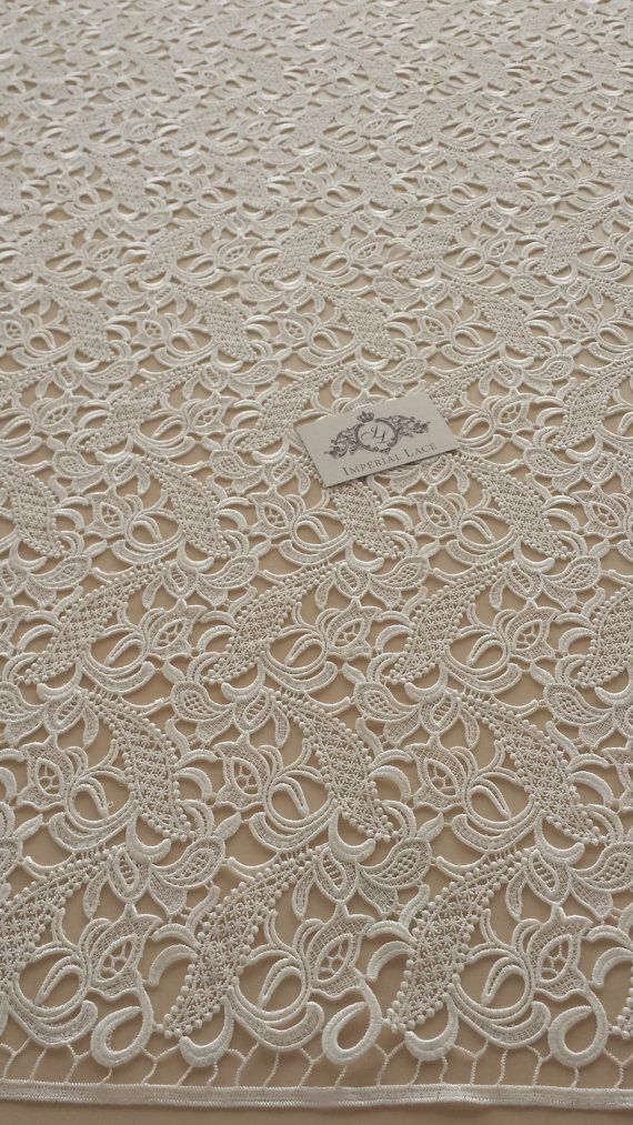 Guipure lace fabric French Lace Embroidered lace Wedding