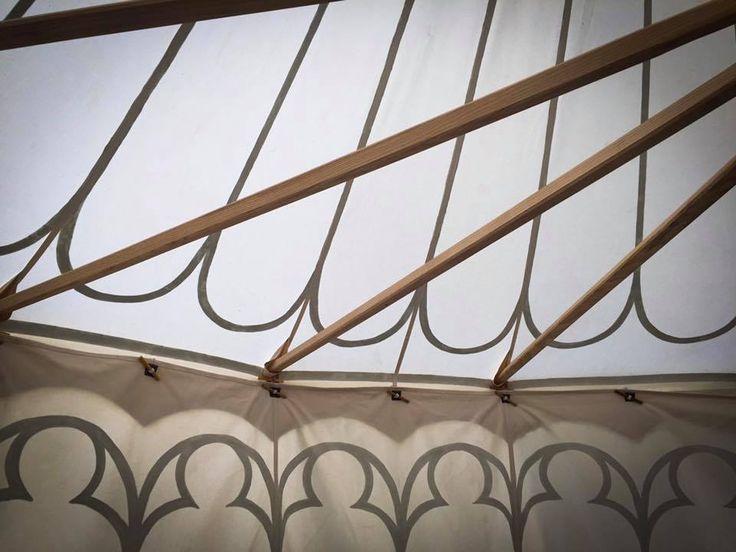 14th century double pavilion, interior, made by Vinedi archery shop