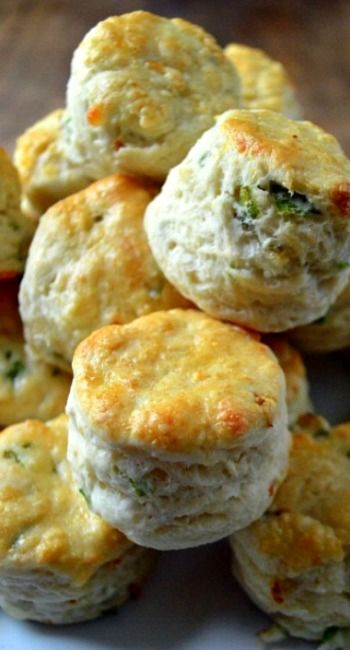 Spring Onion and Cheddar Scones with Bacon Butter