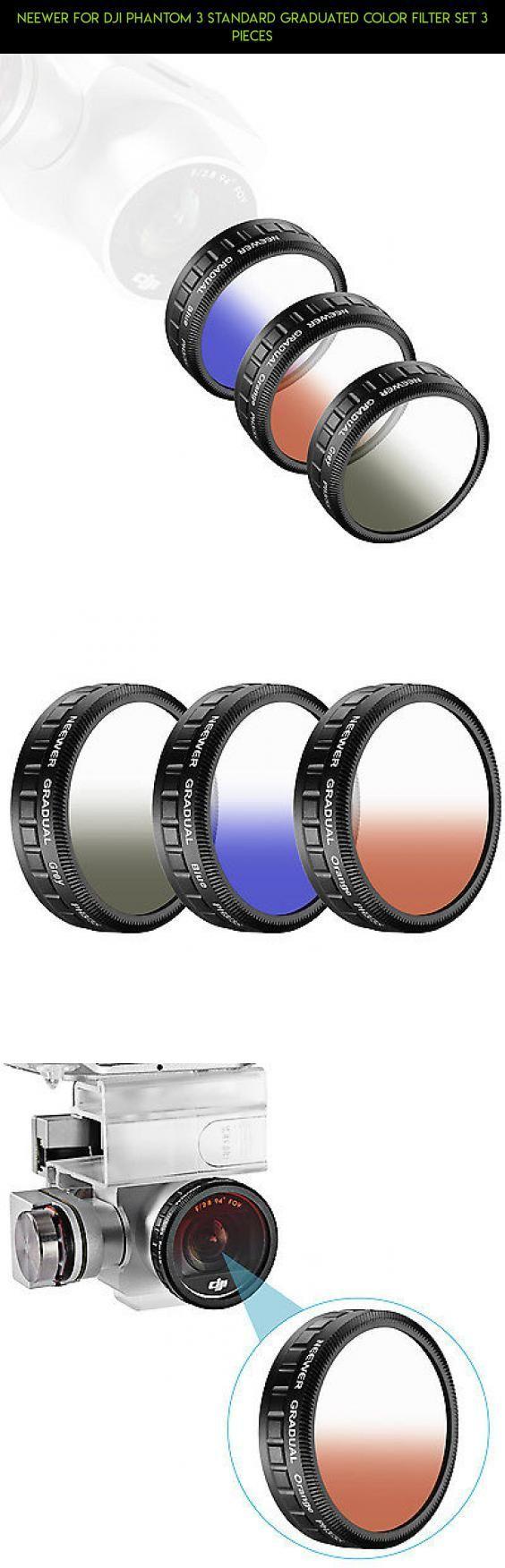 Neewer for DJI Phantom 3 Standard Graduated Color Filter Set 3 Pieces #set #drone #shopping #dji #products #fpv #racing #filter #camera #technology #kit #standard #parts #plans #tech #gadgets #phantom #3