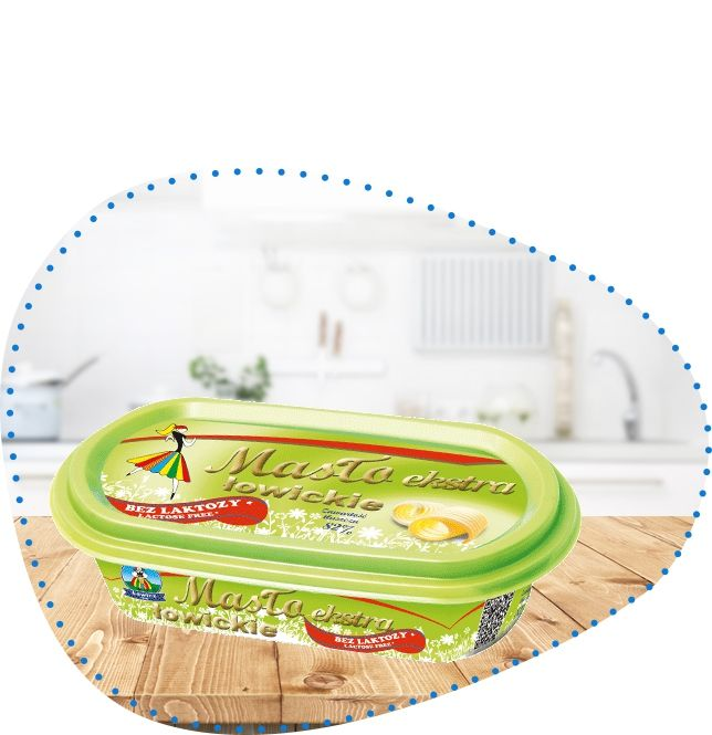 Masło ekstra łowickie 82% bez laktozy 125 g | OSM Łowicz