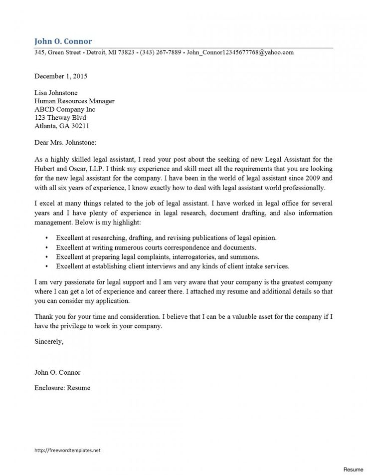 13++ Paralegal cover letter sample ideas in 2021