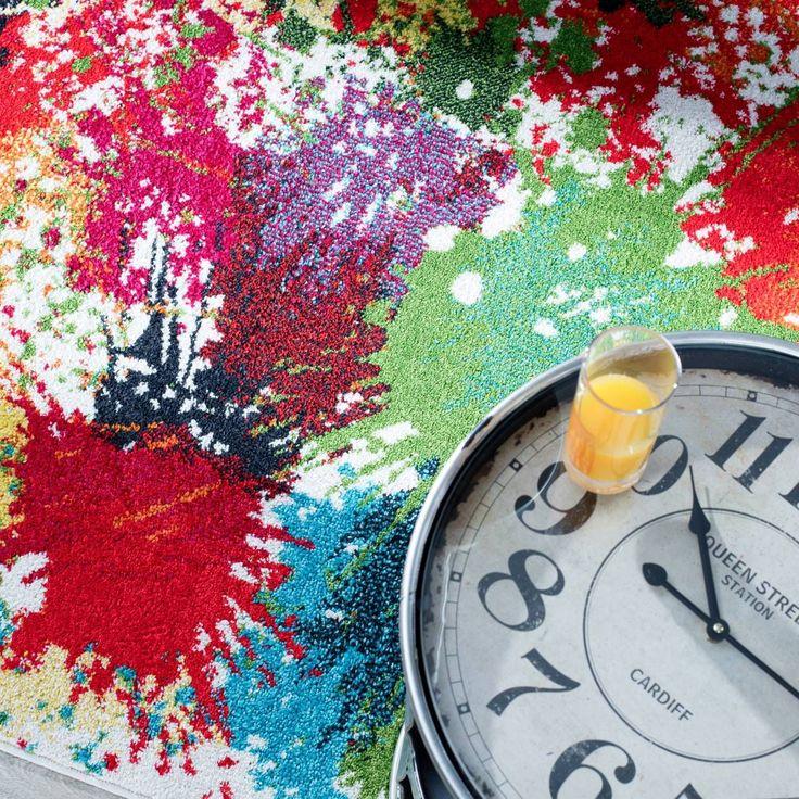 Dywan Modern Splash cream 120x170cm, 120x170cm - Dekoria #mlodziez #youth #room #pokoj #inspiration #decoration #style #dom
