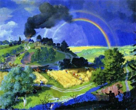 1921 ПОСЛЕ ГРОЗЫ by Boris Kustodiev (1878~1927)