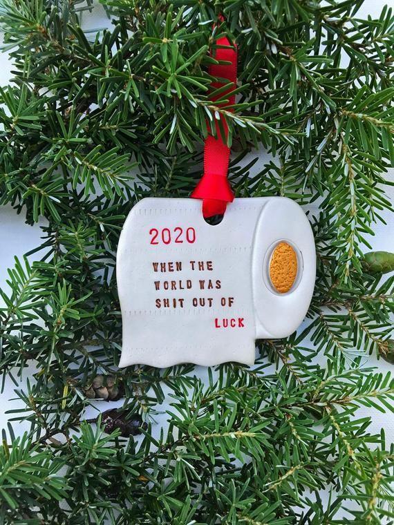 2020 Toilet Paper Christmas Ornament Toilet Paper Shortage Etsy In 2020 Paper Christmas Ornaments Funny Christmas Ornaments Christmas Ornaments