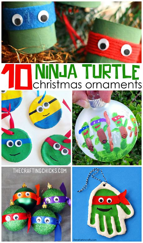 Ninja Turtle Ornament Ideas that kids can make for Christmas crafts! - Crafty Morning