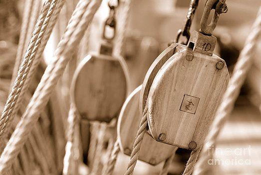 Art sailing sepia by Alexander Lvov