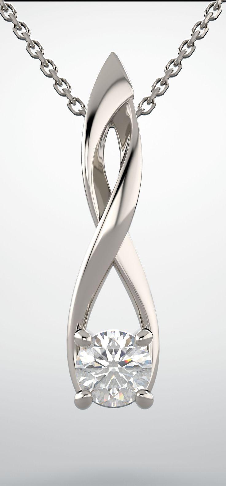 Infinity-inspired diamond pendant Item #86604