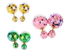 Náušnice oboustranné metalíza 129 Kč www.sperkymoda.cz #sperkymoda #fashion #sperky #jewellery #jewelry #fashionjewellery #bizu #earrings #moda #czech #doubleearrings