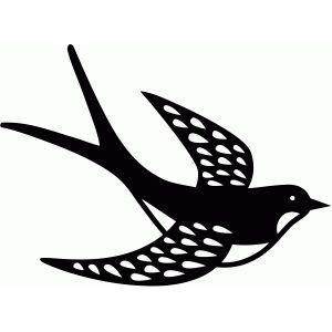 Silhouette Design Store - View Design #81761: swallow