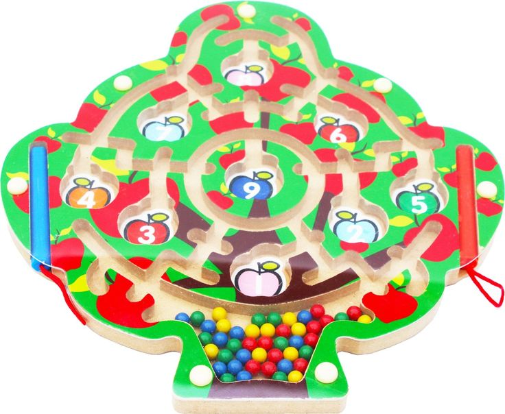 Toys of Wood Oxford Wooden Magnetic Labyrinth Fruit Tree: Amazon.co.uk: Toys & Games