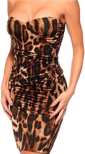 FITTED RUCHED SEXY LEOPARD STRAPLESS PARTY MINI DRESS: http://www.amazon.com/FITTED-RUCHED-LEOPARD-STRAPLESS-PARTY/dp/B0027FTRAU/?tag=greavidesto05-20