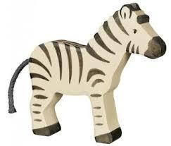 Holztiger Wooden Animal Figure Zebra Canada