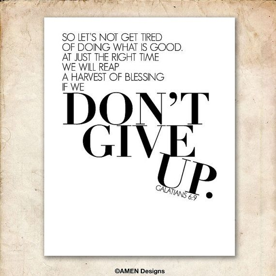 Don't Give Up Galatians 6:9 Day 198 #scripture365 #dontgiveup #holdon