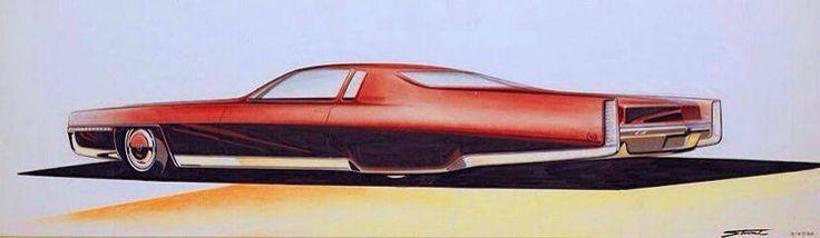 Classic Cadillac by GM designer Charles Stewart - 1968. (via (1) Allthesketches.com)  More car design here.