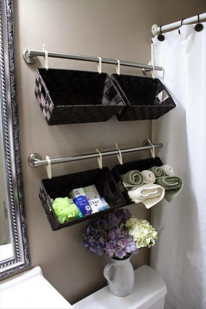 Soluciones para  ganar  almacenaje en el baño