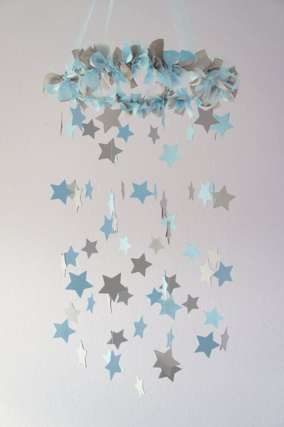 Boy Nursery Decor Nursery Mobile Stars in by LoveBugLullabies, $63.00