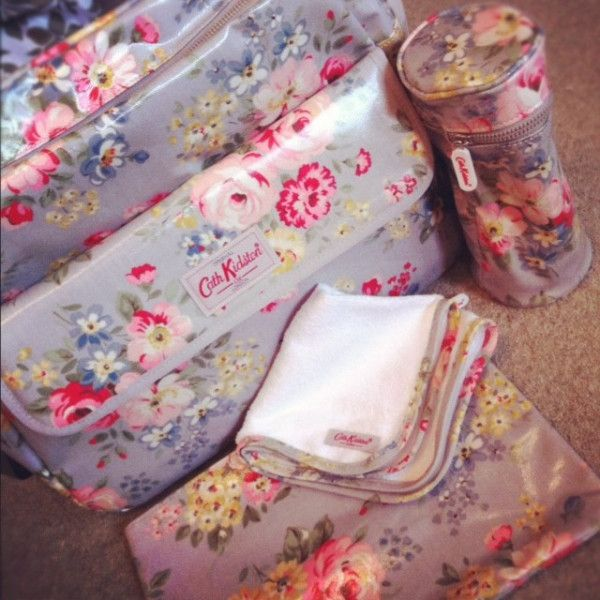Cath Kidston baby changing bag - you might want to choose a less feminine one if dad wants to use it too ;)
